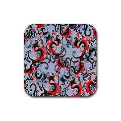 Dragon Pattern Rubber Coaster (Square)