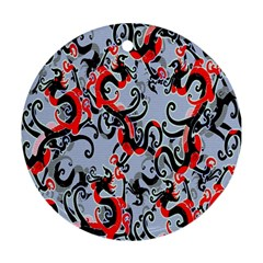 Dragon Pattern Round Ornament (Two Sides)