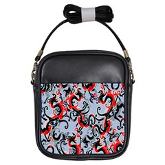 Dragon Pattern Girls Sling Bags