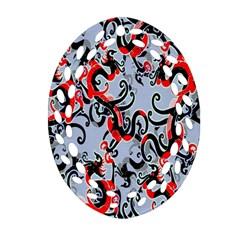 Dragon Pattern Ornament (oval Filigree)
