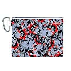 Dragon Pattern Canvas Cosmetic Bag (L)