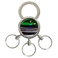 Abstraction 3-Ring Key Chains