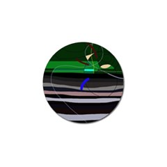 Abstraction Golf Ball Marker