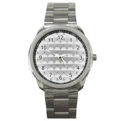 Pattern Retro Background Texture Sport Metal Watch