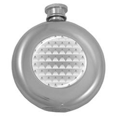 Pattern Retro Background Texture Round Hip Flask (5 oz)