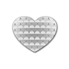 Pattern Retro Background Texture Heart Coaster (4 pack)
