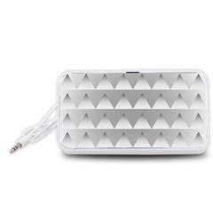 Pattern Retro Background Texture Portable Speaker (White)