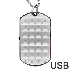 Pattern Retro Background Texture Dog Tag Usb Flash (two Sides)