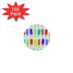 Food Pattern 1  Mini Buttons (100 pack)
