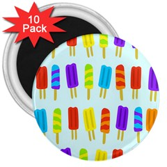Food Pattern 3  Magnets (10 Pack)