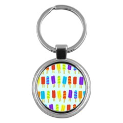 Food Pattern Key Chains (Round)