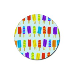 Food Pattern Rubber Coaster (Round)