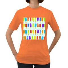Food Pattern Women s Dark T-Shirt