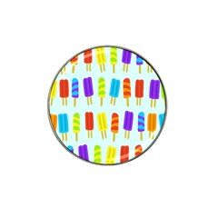 Food Pattern Hat Clip Ball Marker (10 pack)