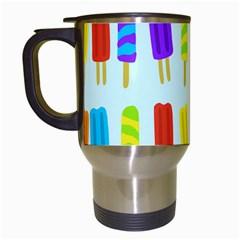 Food Pattern Travel Mugs (White)