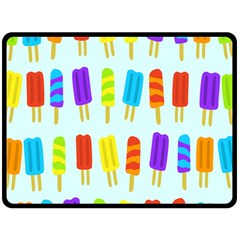 Food Pattern Fleece Blanket (Large)
