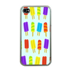 Food Pattern Apple iPhone 4 Case (Clear)