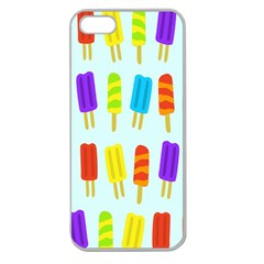 Food Pattern Apple Seamless iPhone 5 Case (Clear)