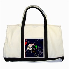 Abstraction Two Tone Tote Bag