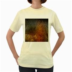 Typography Women s Yellow T-Shirt