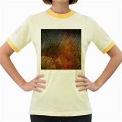 Typography Women s Fitted Ringer T-Shirts