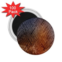 Typography 2.25  Magnets (100 pack)