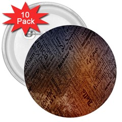 Typography 3  Buttons (10 pack)