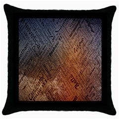 Typography Throw Pillow Case (Black)