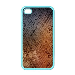 Typography Apple iPhone 4 Case (Color)