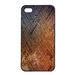 Typography Apple iPhone 4/4s Seamless Case (Black)