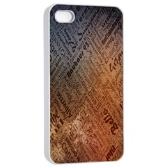 Typography Apple Iphone 4/4s Seamless Case (white)