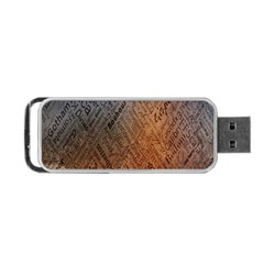 Typography Portable USB Flash (Two Sides)