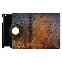 Typography Apple iPad 2 Flip 360 Case