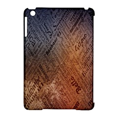 Typography Apple iPad Mini Hardshell Case (Compatible with Smart Cover)