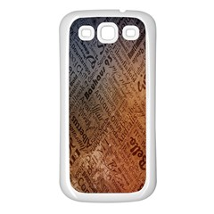 Typography Samsung Galaxy S3 Back Case (White)