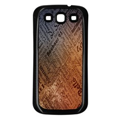 Typography Samsung Galaxy S3 Back Case (black)