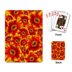 Gerbera Flowers Blossom Bloom Playing Card