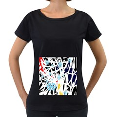 Abstraction Women s Loose-Fit T-Shirt (Black)