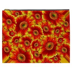 Gerbera Flowers Blossom Bloom Cosmetic Bag (XXXL)