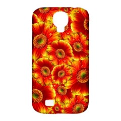 Gerbera Flowers Blossom Bloom Samsung Galaxy S4 Classic Hardshell Case (pc+silicone)