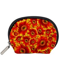 Gerbera Flowers Blossom Bloom Accessory Pouches (Small)
