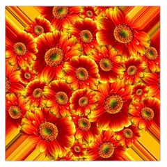 Gerbera Flowers Blossom Bloom Large Satin Scarf (Square)