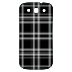 Plaid Checks Background Black Samsung Galaxy S3 S Iii Classic Hardshell Back Case