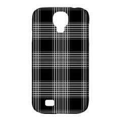 Plaid Checks Background Black Samsung Galaxy S4 Classic Hardshell Case (PC+Silicone)