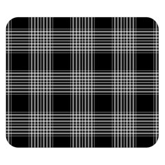 Plaid Checks Background Black Double Sided Flano Blanket (small)