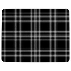 Plaid Checks Background Black Jigsaw Puzzle Photo Stand (Rectangular)