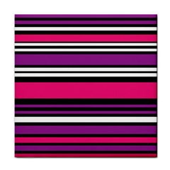 Stripes Colorful Background Tile Coasters