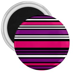 Stripes Colorful Background 3  Magnets