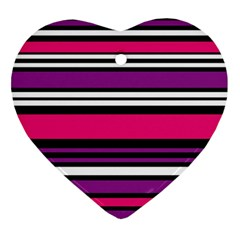 Stripes Colorful Background Ornament (Heart)
