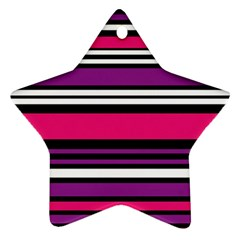 Stripes Colorful Background Ornament (Star)